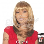 Vella Blonde Synthetic Hair Wig with Bangs - Tresses