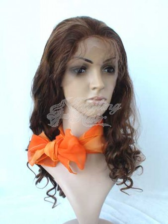 Bodywave Full Lace Wig Dark Brown with Blonde Highlights