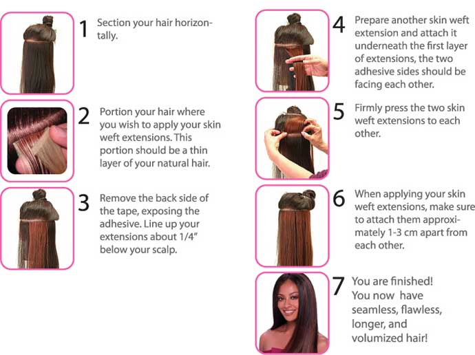 Tape Hair Application Instructions