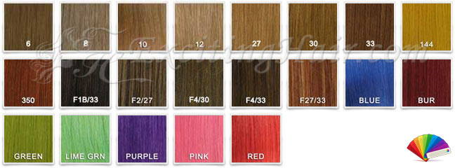 Wig Custom Color Chart